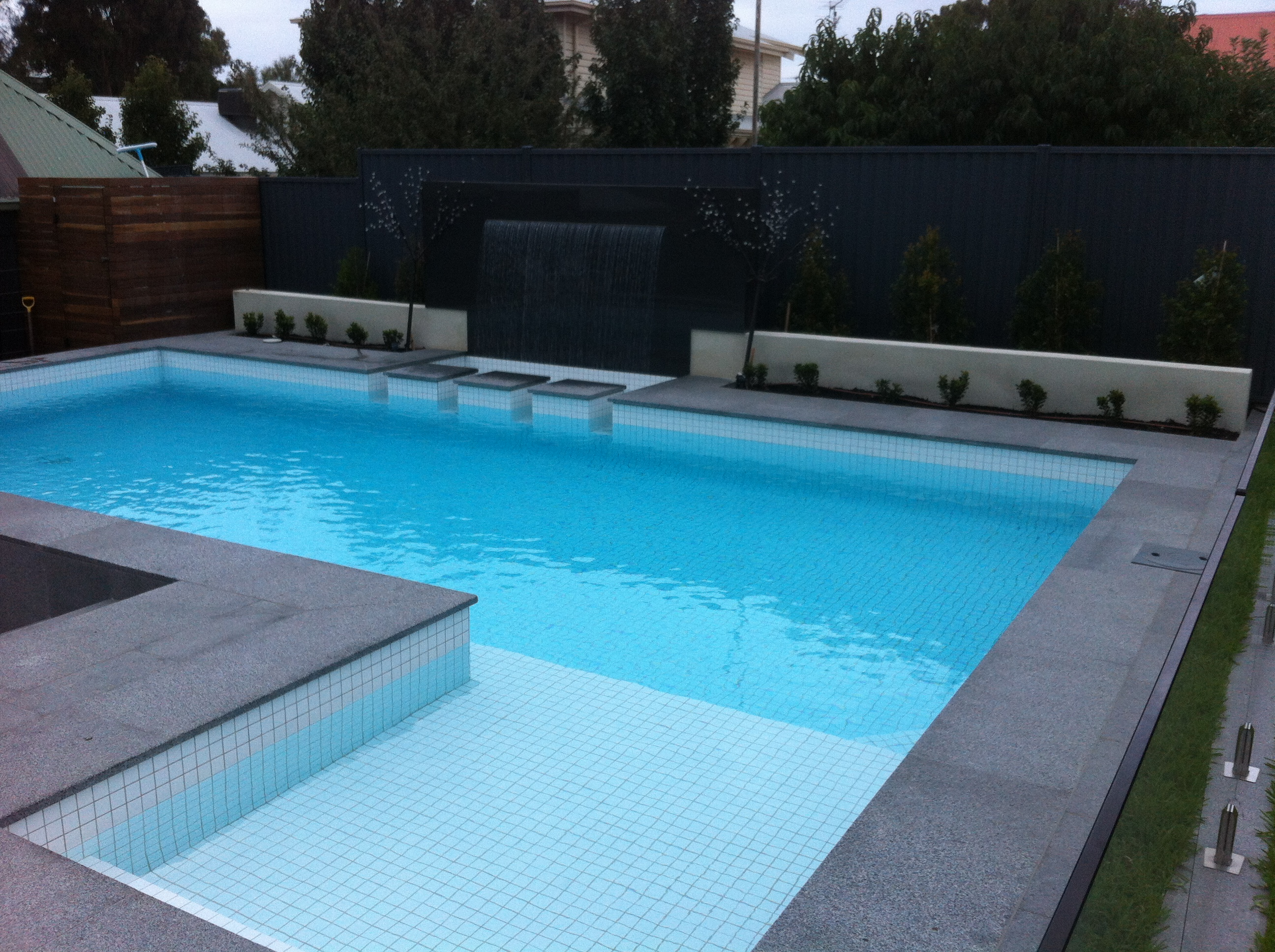 granite paving swimming pool Geelong