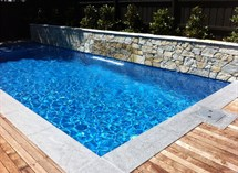 Feature wall around swimming pool in Malvern Great Ocean Pools