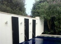 Water feature and fully tiled plunge pool Torquay Great Ocean Pools