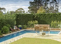 Castlemaine slate water feature in swimming pool Great Ocean Pools