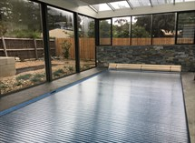 indoor pool roller cover
