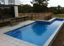 Fully tiled lap pool in Jan Juc Great Ocean Pools