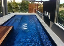 Water feature in swimming pool Great Ocean Pools