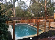 timber pool fence
